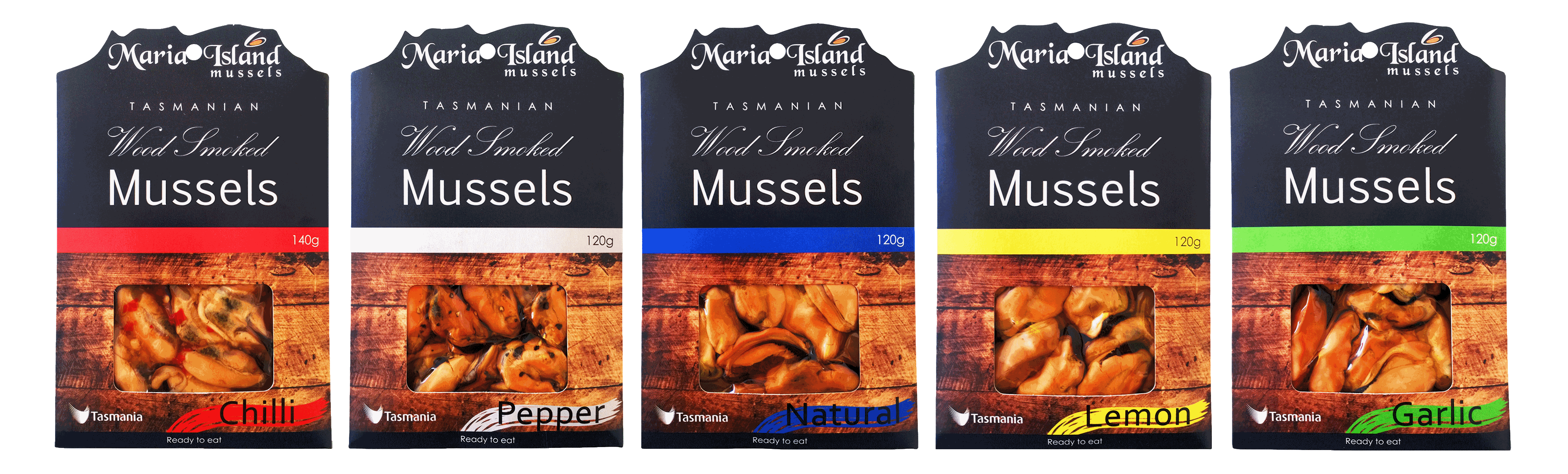 Maria Island Smoked Mussels